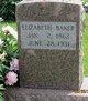 """Elizabeth M """"Lizzie"""" <I>Fleming</I> Baker"""