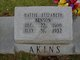 Profile photo:  Hattie Elizabeth <I>Benson</I> Akins