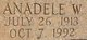 Anadele Way <I>Hussey</I> Baker