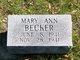 Mary Ann Becker