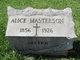 Profile photo:  Alice Masterson