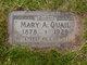 Mary Ann <I>Barrow Chatfield</I> Quail