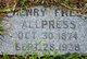 Profile photo:  Henry Fred Allpress