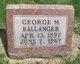 Profile photo:  George M Ballanger