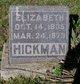 "Profile photo:  Elizabeth ""Lizzie"" <I>Scobee</I> Hickman"