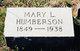 Mary L <I>Marshall</I> Humberson