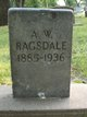 Profile photo:  A. W. Ragsdale