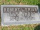 Robert L Friar