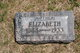 "Elizabeth ""Lizzie"" <I>Mercy</I> Reeves"