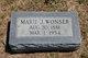 Marie J. <I>Lancaster</I> Wonser
