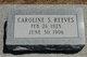Caroline Sivyersic <I>Sevyer</I> Reeves