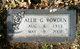 Allie Gee <I>Griffin</I> Rowden