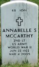 Profile photo:  Annabelle S McCarthy
