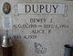 DEWEY J DUPUY