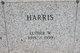 """L W """"Dub"""" Harris"""