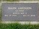 Profile photo:  Ralph Aaronson