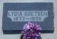 Lydia Sophie <I>Mensching</I> Goetsch