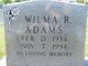 Profile photo:  Wilma Ruth Adams