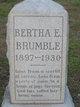 Profile photo:  Bertha E. <I>Lagrone</I> Brumble