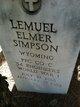 Profile photo:  Lemuel Elmer Simpson