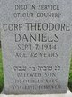 Sgt Theodore Daniels
