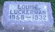 Louisa <I>Klotzbach</I> Luckerman