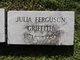 Julia <I>Ferguson</I> Griffith