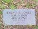Fannie E Jones