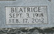 Beatrice <I>Loveless</I> Moore