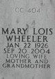 Mary Lois Wheeler