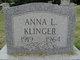 Profile photo:  Anna L Klinger