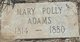 "Profile photo:  Mary ""Polly"" <I>Childers</I> Adams"