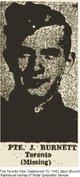 Profile photo: Pvt James <I> </I> Burnett,