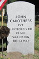Profile photo: PVT John Carothers