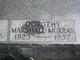 Dorothy Frances <I>Wojciechowski</I> Marshall-Murray
