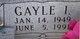 Gayle I. <I>Nelson</I> Allen