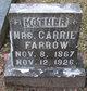 Mrs Carrie <I>Petigrew</I> Farrow