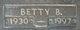 Profile photo:  Betty <I>Brown</I> Gazelle