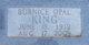 Burnice Opal <I>Watts</I> King