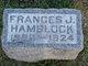 """Franciska J. """"Frances"""" Hamblock"""