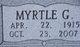 Myrtle G <I>Crain</I> Anthony