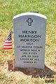 Profile photo:  Henry Harrison Horton
