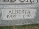 Profile photo:  Alberta <I>Greene</I> Holdcraft