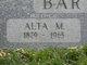 Profile photo:  Alta May <I>Ross</I> Barnhart