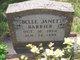 Profile photo:  Belle Janet <I>Weatherly</I> Barrier