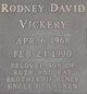 "Profile photo:  Rodney David ""Tater"" Vickery"