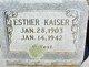 Esther <I>Tatum</I> Kaiser