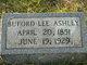 Profile photo:  Buford Lee Ashley