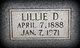 Lillie D. <I>Holmes</I> West