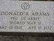 Profile photo:  Donald R Adams